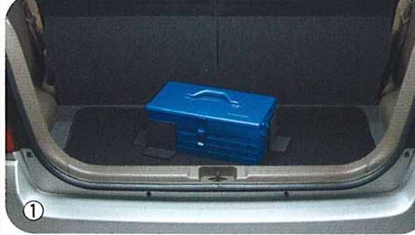 『ラパン』 純正 HE21 ラゲッジマット(パーテーション付) パーツ スズキ純正部品 ラゲージマット 荷室マット 滑り止め lapin オプション アクセサリー 用品