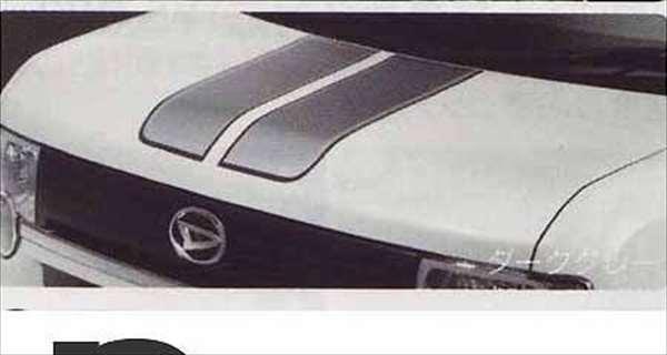 『ムーヴコンテ』 純正 L575S L585S フードストライプ(ダークグレー) パーツ ダイハツ純正部品 デカール ステッカー シールデカール ステッカー シール moveconte オプション アクセサリー 用品