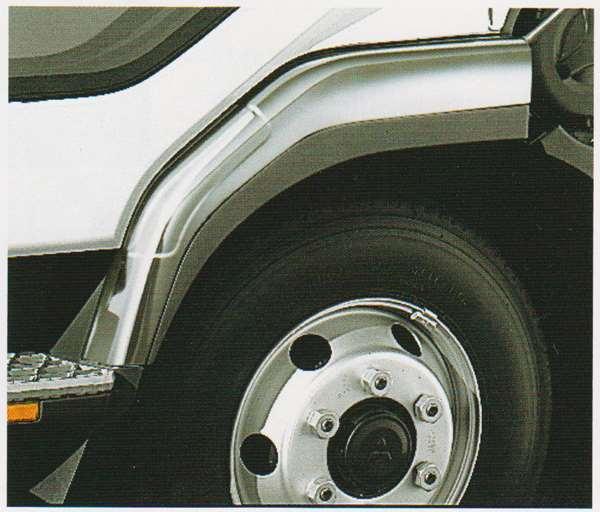 ファイター パーツ メッキフェンダー(ショートキャブ用)のフェンダープロテクターレス 三菱ふそう純正部品 FK71 FK61 FK72 FK62 オプション アクセサリー 用品 純正 メッキ 送料無料