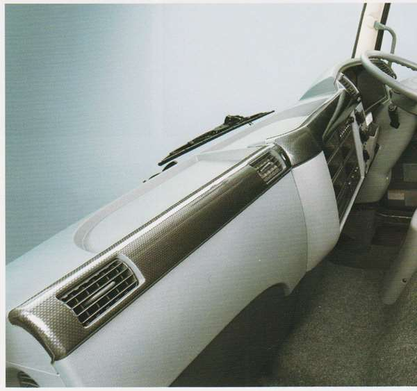 ファイター パーツ カーボン調パネル インパネ部の標準幅 三菱ふそう純正部品 FK71 FK61 FK72 FK62 オプション アクセサリー 用品 純正 パネル