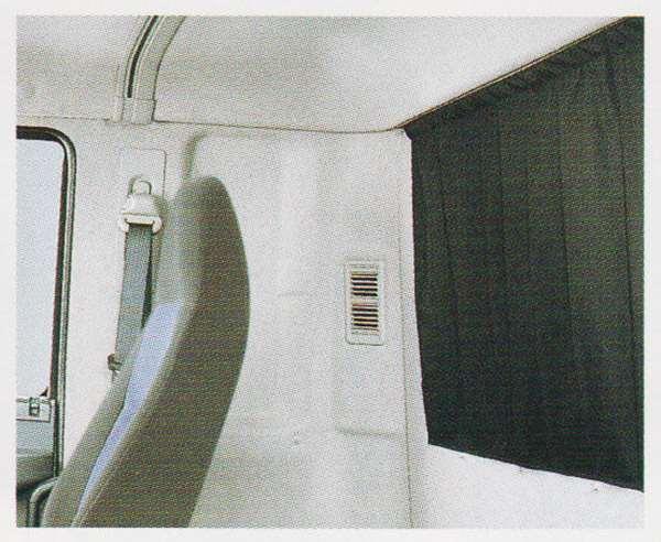 ファイター パーツ リヤカーテン 完全遮光黒 プリーツ無 三菱ふそう純正部品 FK71 FK61 FK72 FK62 オプション アクセサリー 用品 純正 カーテン