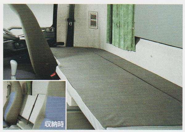 ファイター パーツ 収納式仮眠ベッド(ショートキャブ用)の標準幅 3名 ※受注生産 三菱ふそう純正部品 FK71 FK61 FK72 FK62 オプション アクセサリー 用品 純正 送料無料