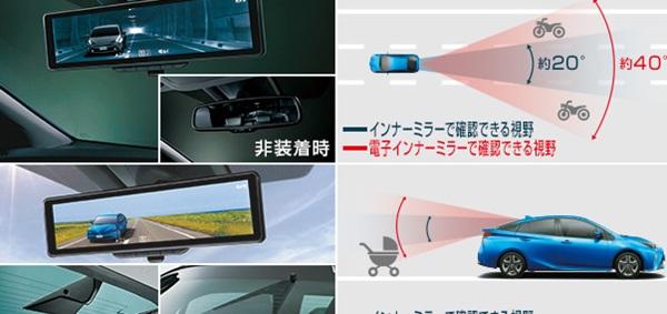 『プリウス』 純正 ZVW51 ZVW55 電子インナーミラー パーツ トヨタ純正部品 ルームミラー オプション アクセサリー 用品