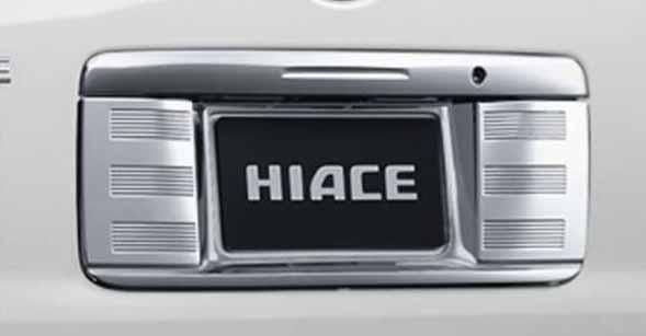 『ハイエース』 純正 TRH211 TRH216 リヤライセンスガーニッシュ パーツ トヨタ純正部品 カスタム エアロパーツ hiace オプション アクセサリー 用品