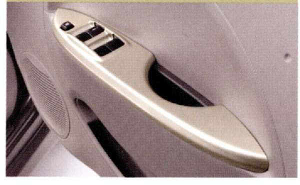 『アイ』 純正 HA1W ドアスイッチパネルセット(シャンパンゴールド) パーツ 三菱純正部品 内装ベゼル パワーウィンドウパネル オプション アクセサリー 用品
