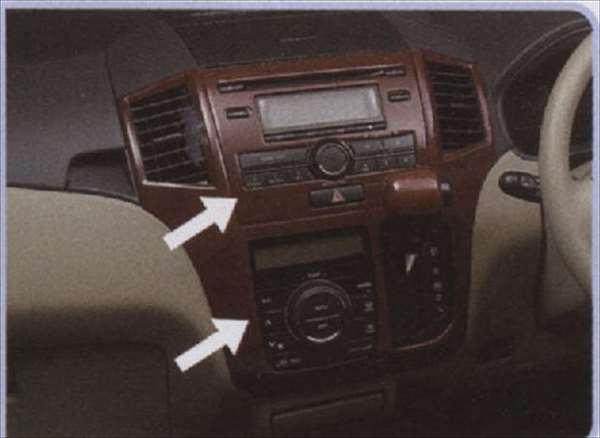 『パレット』 純正 MK21S センターガーニッシュセット 標準オーディオ用 ウッド調 パーツ スズキ純正部品 ウッド 木目 内装パネル センターパネル オーディオパネル palette オプション アクセサリー 用品