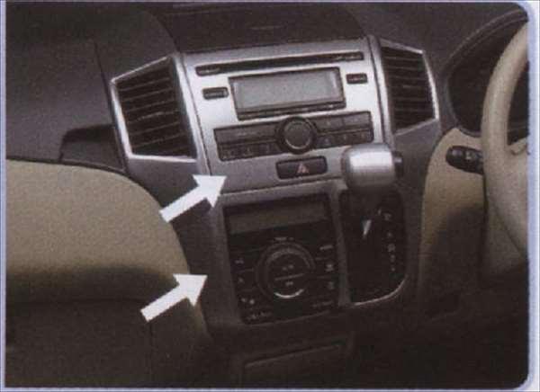 『パレット』 純正 MK21S センターガーニッシュセット 標準オーディオ用 ヘアライン調 パーツ スズキ純正部品 内装パネル センターパネル オーディオパネル palette オプション アクセサリー 用品