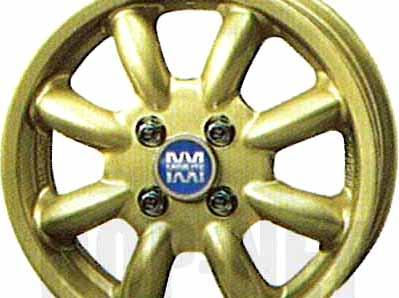 『ムーヴ』 純正 L175S アルミホイール 1本のみ (14インチ・ミニライト・ゴールド) パーツ ダイハツ純正部品 move オプション アクセサリー 用品