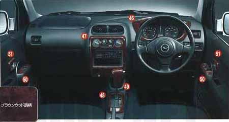 『テリオス』 純正 J131 シフトノブカバー(ブラウンウッド調)(AT車用) パーツ ダイハツ純正部品 terios オプション アクセサリー 用品
