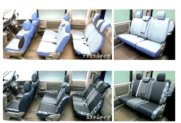 『ステップワゴン』 純正 RP5 RP3 RP4 RP1 RP2 シートカバー ファブリック(フルタイプ/1、2、3列目セット)※2列目6:4分割ベンチシート用 パーツ ホンダ純正部品 座席カバー 汚れ シート保護 オプション アクセサリー 用品