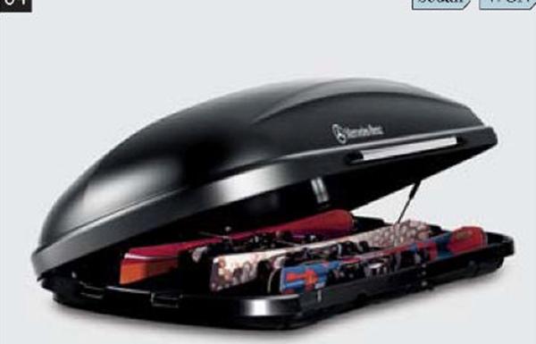 『E-class』 純正 RBA DBA LDA DLA CAA ルーフボックス用スキーラック 330l パーツ ベンツ純正部品 キャリア別売り オプション アクセサリー 用品