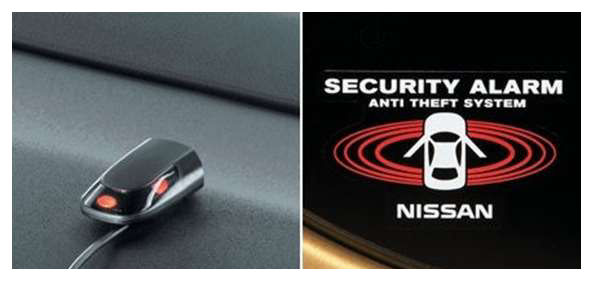 Notes E12 parts car alarm Nissan genuine parts E12 NE12 optional  accessories supplies factory alarm