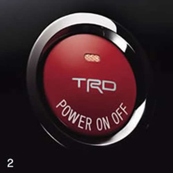 TRD プッシュスタートスイッチ [ MS422-00001 ] カムリ ACV4 適合 全車 (必要個数 1個)