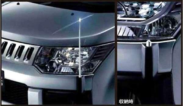 『デリカD:5』 純正 CV4W 電動リモコンポール パーツ 三菱純正部品 フェンダーポール フェンダーライト コーナーポール DELICA オプション アクセサリー 用品