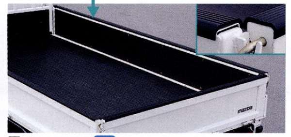 『タイタンダッシュ』 純正 SYE4T SYE6T ブリムカバー ダブルキャビン ロングボディ スチールアオリ パーツ マツダ純正部品 ゲートカバー ゲートプロテクター Titan オプション アクセサリー 用品
