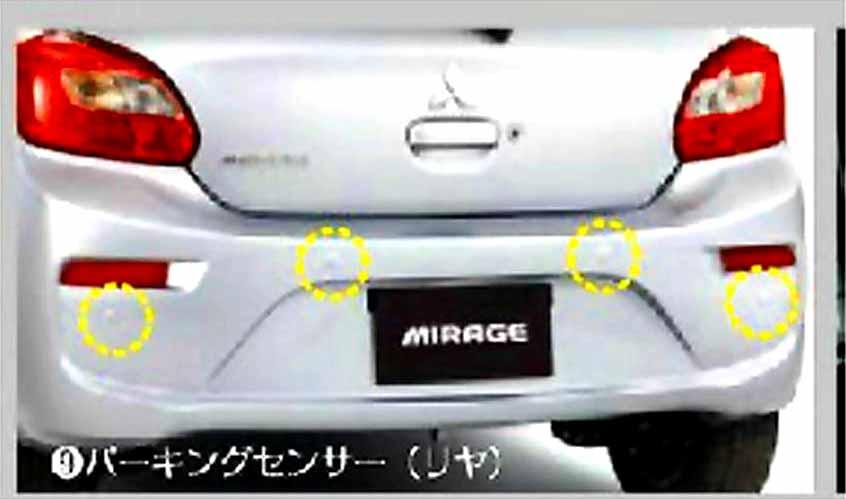 『ミラージュ』 純正 A03A パーキングセンサー 4センサー:リヤ4 パーツ 三菱純正部品 MIRAGE オプション アクセサリー 用品