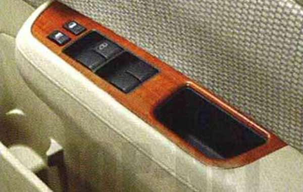 『ティーダ』 純正 HR15 MR18 木目調パワーウインドゥフィニッシャー CMUN0 パーツ 日産純正部品 TIIDA オプション アクセサリー 用品