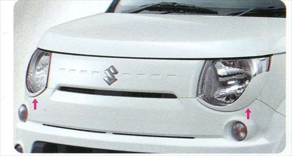 『MRワゴン』 純正 MF33S ヘッドランプガーニッシュ パーツ スズキ純正部品 ヘッドライトパネル 飾り カスタム mrwagon オプション アクセサリー 用品