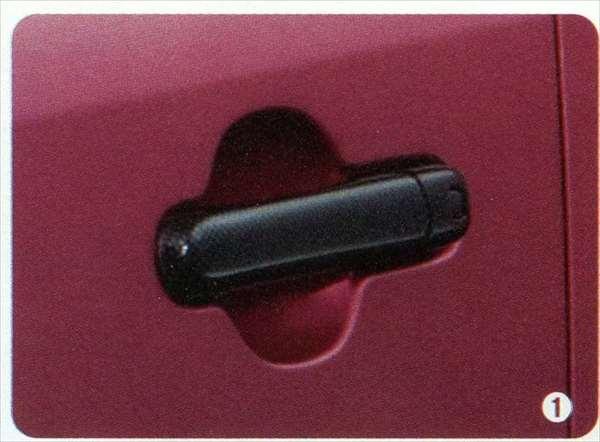 『MRワゴン』 純正 MF33S ドアハンドルガーニッシュ カーボン調樹脂 パーツ スズキ純正部品 カーボン ドアカバー ドアノブ パネル mrwagon オプション アクセサリー 用品