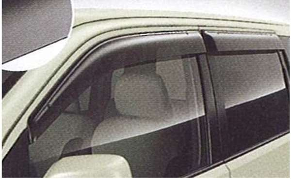 『ekワゴン』 純正 H82W エクシードバイザー フロント/リヤ左右セット パーツ 三菱純正部品 ドアバイザー サイドバイザー オプション アクセサリー 用品