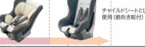 【ミライ―ス】純正 LA350S LA360S チャイルドシート(シートベルト固定専用) パーツ ダイハツ純正部品 オプション アクセサリー 用品