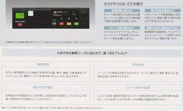 キャンター パーツ デジタルタコグラフ(矢崎総業製) 車載器のデジタルタコグラフ本体(DTG1) 三菱ふそう純正部品 FBA60 FBA30 オプション アクセサリー 用品 純正 送料無料
