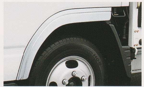 キャンター パーツ メッキフェンダー(つや消し仕上げ) 標準キャブ用ラージ(FBA系) 三菱ふそう純正部品 FBA60 FBA30 オプション アクセサリー 用品 純正 メッキ