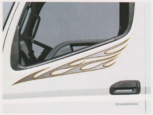 キャンター パーツ ドアサイドストライプ メタル調 三菱ふそう純正部品 FBA60 FBA30 オプション アクセサリー 用品 純正