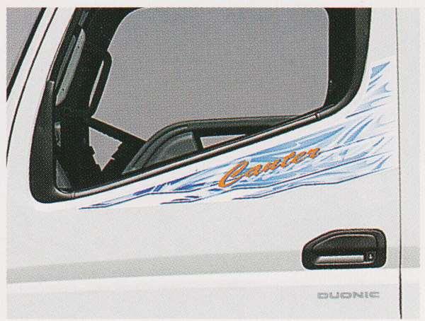 cant027 キャンター パーツ ドアサイドストライプ ブルー調 三菱ふそう純正部品 FBA60 FBA30 オプション アクセサリー 用品 純正