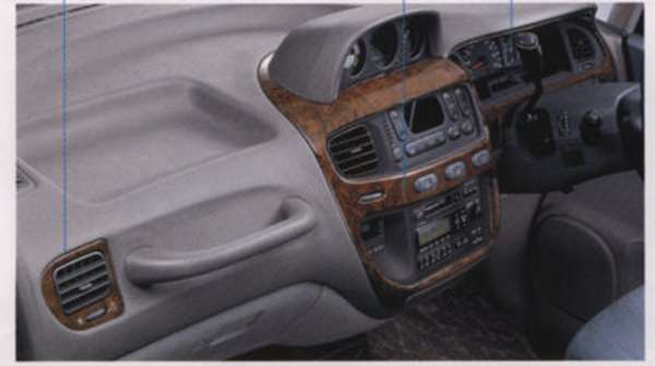『デリカスペースギア』 純正 PD6W 木目調パネル(ブラウン) パーツ 三菱純正部品 インテリアパネル 内装パネル DELICA オプション アクセサリー 用品
