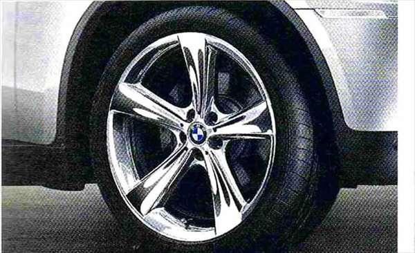 X6 パーツ スタースポーク・スタイリング128(クローム) コンプリートセット 285/35R21 フロント 325/30R21 リヤ BMW純正部品 FG35 FG44 FH44 オプション アクセサリー 用品 純正 送料無料