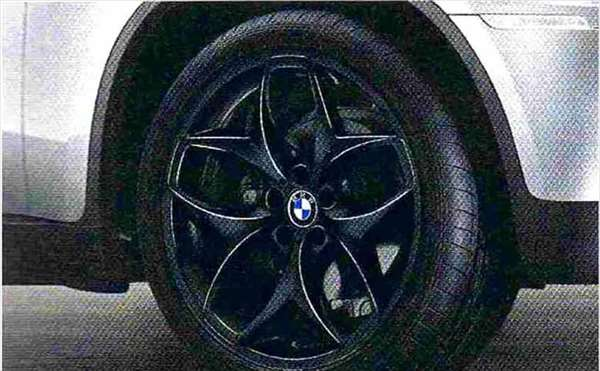 X6 パーツ ダブルスポーク・スタイリング215(ブラック) ホイール単体 10J×21(フロント) BMW純正部品 FG35 FG44 FH44 オプション アクセサリー 用品 純正 送料無料