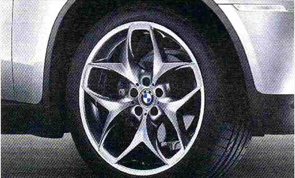 X6 パーツ ダブルスポーク・スタイリング215(グレー) ホイール単体 10J×21(フロント) BMW純正部品 FG35 FG44 FH44 オプション アクセサリー 用品 純正 送料無料