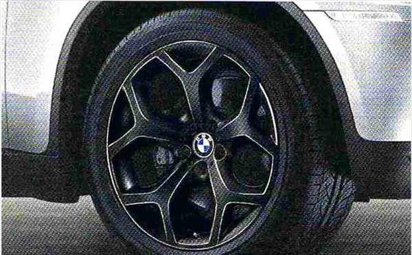 X6 パーツ Yスポーク・スタイリング214(ブラック) ホイール単体 11J×20 リヤ BMW純正部品 FG35 FG44 FH44 オプション アクセサリー 用品 純正 送料無料