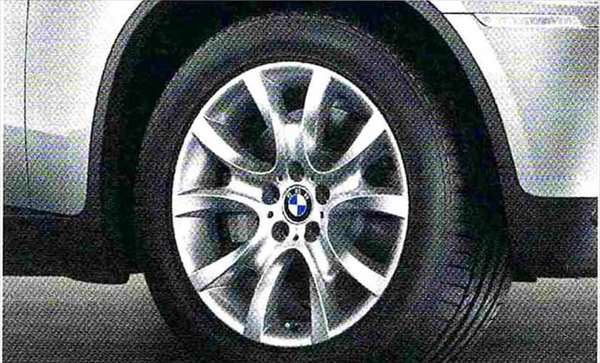 X6 パーツ Vスポーク・スタイリング257 ホイール単体 9J×19 BMW純正部品 FG35 FG44 FH44 オプション アクセサリー 用品 純正 送料無料