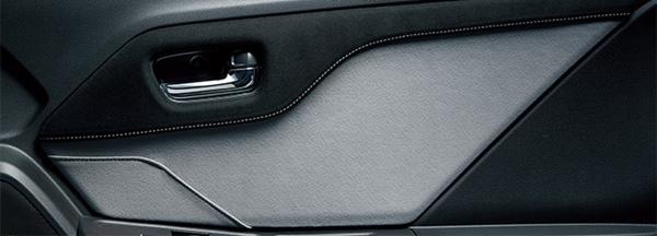 『S660』 純正 JW5 ドアライニングパネル(左右セット/運転席側ポケット付)ラックス スェードR(ブラック)×ラックス スェードR(グレー)×グレーステッチ パーツ ホンダ純正部品 オプション アクセサリー 用品