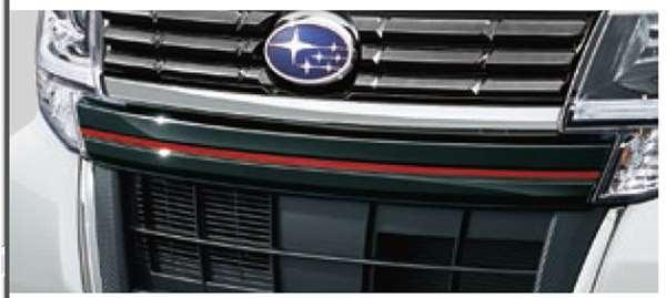 『シフォン』 純正 LA600F LA610F フロントアンダーグリル(ブラックメッキ) パーツ スバル純正部品 メッキ オプション アクセサリー 用品