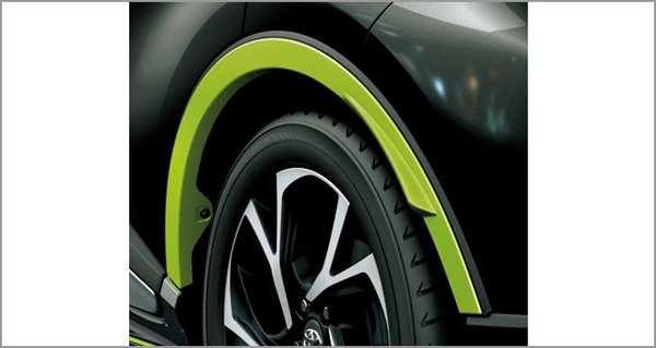 『C-HR』 純正 ZYX10 NGX50 フェンダーアーチモール(ライムグリーン) パーツ トヨタ純正部品 フェンダーモール タイヤモール オプション アクセサリー 用品