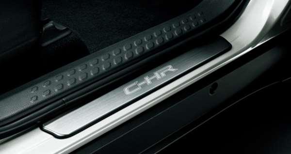 『C-HR』 純正 ZYX10 NGX50 スカッフプレート(ステンレス)(フロント左右) パーツ トヨタ純正部品 ステップ 保護 プレート オプション アクセサリー 用品