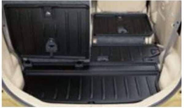 『スペーシア カスタムZ』 純正 MK42S ラゲッジマット(シート背裏あり) パーツ スズキ純正部品 ラゲージマット 荷室マット 滑り止め オプション アクセサリー 用品