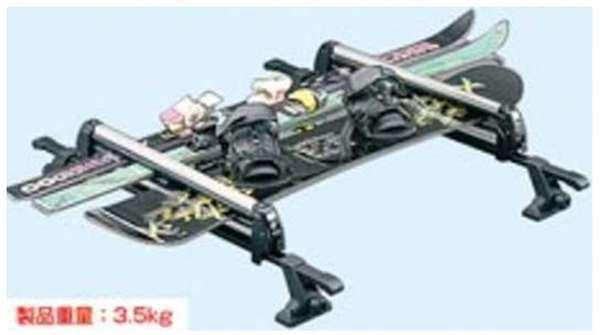 『スペーシア』 純正 MK42S スキー&スノーボードアタッチメント 平積み パーツ スズキ純正部品 キャリア別売りキャリア別売り オプション アクセサリー 用品