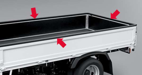 『ダイナトヨエース』 純正 BZU600 (タイプ1) ゲートプロテクター パーツ トヨタ純正部品 荷台モール アオリ dyna オプション アクセサリー 用品