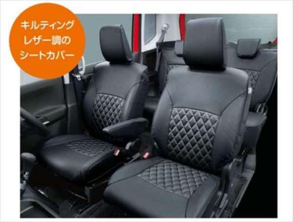 『ソリオハイブリッド』 純正 MA46S MA36S 革調シートカバー 1台分(フロント、リヤ)セット パーツ スズキ純正部品 座席カバー 汚れ シート保護 オプション アクセサリー 用品