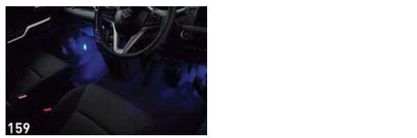 『ソリオハイブリッド』 純正 MA46S MA36S フットイルミネーション パーツ スズキ純正部品 オプション アクセサリー 用品