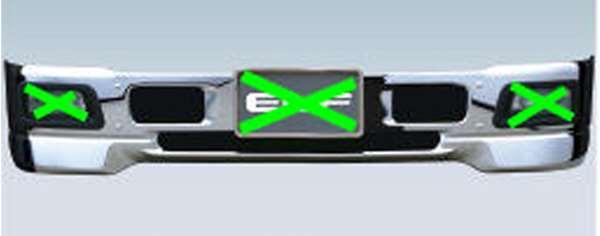 エルフ 純正 FR6AA FR6AAS~ エアダムバンパーホワイト フォグランプ対応 標準キャブ パーツ いすゞ純正部品 フォグライト 補助灯 霧灯 オプション アクセサリー 用品 お買い得 年越し 謝礼 通学