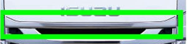 『エルフ』 純正 FR6AA FR6AAS~ メッキ調フロントラインプレート ハイキャブ パーツ いすゞ純正部品 オプション アクセサリー 用品