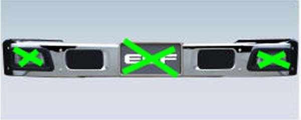 『エルフ』 純正 FR6AA FR6AAS~ メッキバンパー (フォグランプ対応) ハイキャブ パーツ いすゞ純正部品 フォグライト 補助灯 霧灯 オプション アクセサリー 用品