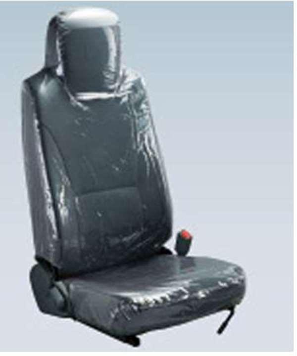 『エルフ』 純正 FR6AA FR6AAS~ シートカバー (透明ビニール) ダブルキャブ用リヤ ハイキャブ パーツ いすゞ純正部品 座席カバー 汚れ シート保護 オプション アクセサリー 用品