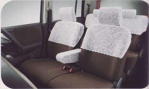 『ラパン』 純正 HE22S レースハーフカバー サイドエアバッグ付車用 パーツ スズキ純正部品 座席カバー 汚れ シート保護 lapin オプション アクセサリー 用品