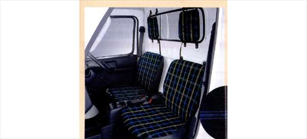 『キャリイ』 純正 DA63T DA65T シートカバ(タータンチェック) パーツ スズキ純正部品 carry オプション アクセサリー 用品